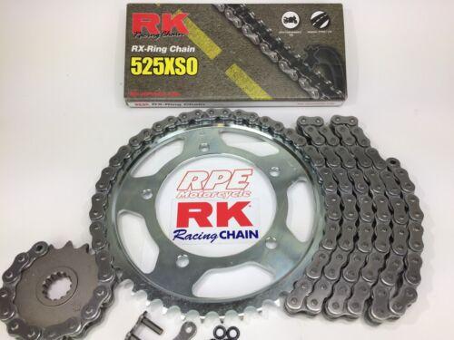 2006-2010 Suzuki GSXR600 RK XSO 525 15//45t Extreme QA Chain and Sprocket Kit