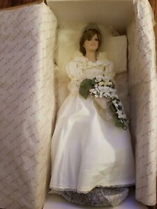 Princess Diana Royal Wedding Porcelain Bride Doll By Danbury Mint Nib Ebay