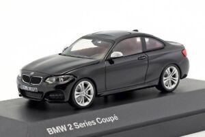 BMW-serie-2-Coupe-negro-Distribuidor-Oficial-Modelo-de-escala-1-43-Auto-Nuevo-Para-Hombres-Regalo