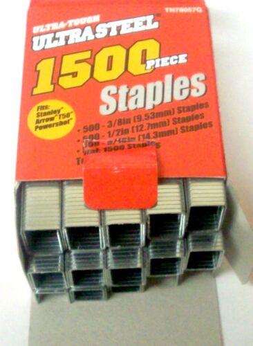22500 Arrow T50 Stanley Powershot Assorted Sizes Staples 3//8 1//2 /& 9//16 in.