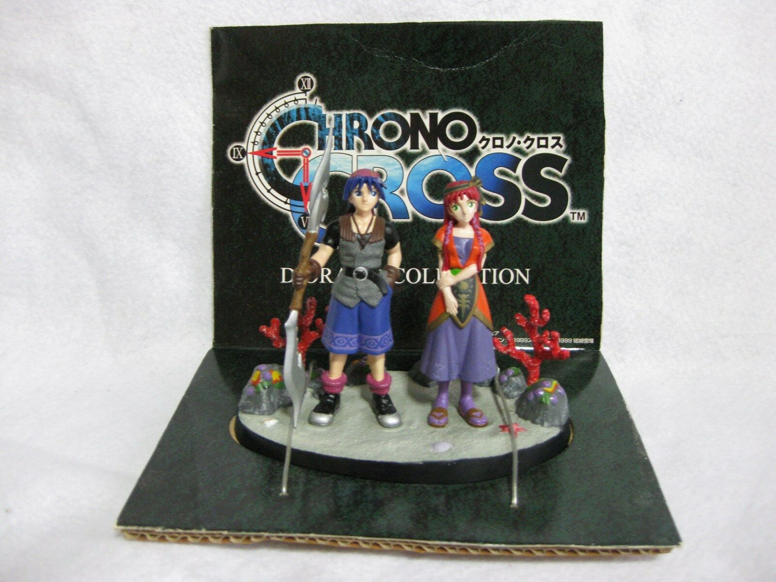 Vary Rare  CHRONO CROSS Diorama Figures Serge & Leena Japan Official Figure