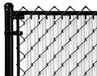 Chain Link White Single Wall Ridged™ Privacy Slat For 3ft High Fence Bottom Lock