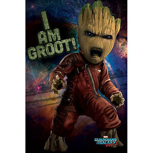 Guardians-Of-The-Galaxy-Vol-2-Baby-Groot-Angry-POSTER-61x91cm-NEW-I-Am-Groot