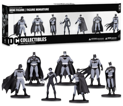 DC Collectibles Batman Black /& White PVC Minifigure 7-Pack Box Set #1 10 cm
