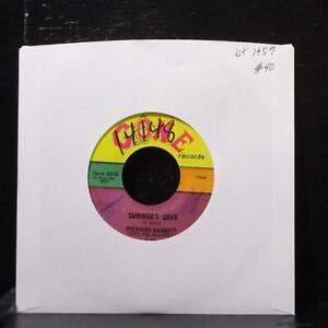 Richard-Barrett-amp-Chantels-Summer-039-s-Love-7-034-VG-Vinyl-45-Gone-5060-USA-1959