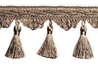 Quastenborte 80mm breit Silber Posamentenborte Fransenborte m.Quasten m.Troddeln