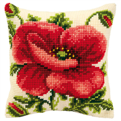 Cross Stitch Reindeer /& Scarf Large Holed Printed Tapestry Canvas Cushion Kit