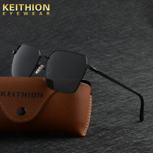 KEITHION-Polarized-Mens-Sunglasses-Metal-Frame-Outdoor-Driving-Sports-Eyewear