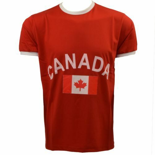 "Sonia Originelli Fan-Shirt /""Canada/"" Unisex Fußball WM EM Herren T-Shirt Neu"