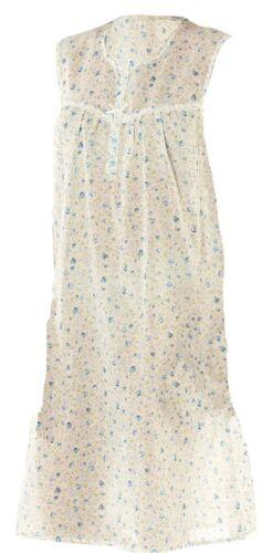 OCTAVE® Ladies Poly Cotton Lightweight Sleeveless Summer Nightdress Nightie
