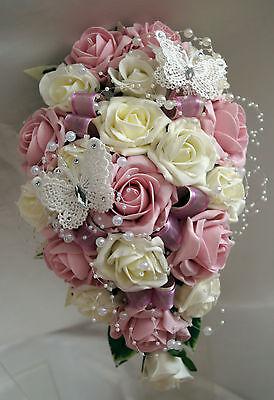 Brides,Bridesmaids,Flower girls Wedding bouquets Butterflies/pearls All colours