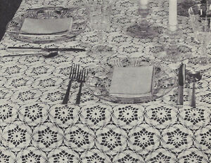 Image Is Loading Vintage Crochet PATTERN To Make Daisy Tablecloth Flower