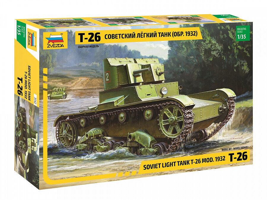 Panzer // Modellbausatz 1:35 ZVEZDA 3538 Soviet Light Tank T-26 Mod. 1933