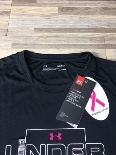 Under Armour Power In Pink Men's Sz MEDIUM Breast Cancer Compression Shirt Komen