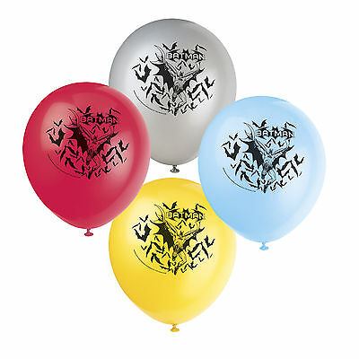 "8 DC Comic Batman Superhero Birthday Party 12"" Printed Latex Balloons"