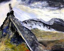 """""""The Glyders, Snowdonia"""".  Original Painting by John Fielder Lee"""