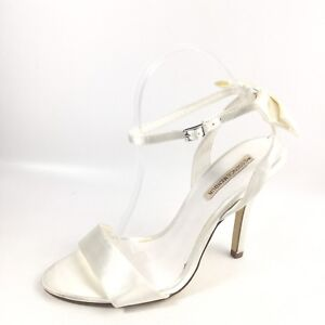 63113423e The Essence Menbur Womens Size 39 M White Dress Heel Ankle Strap ...