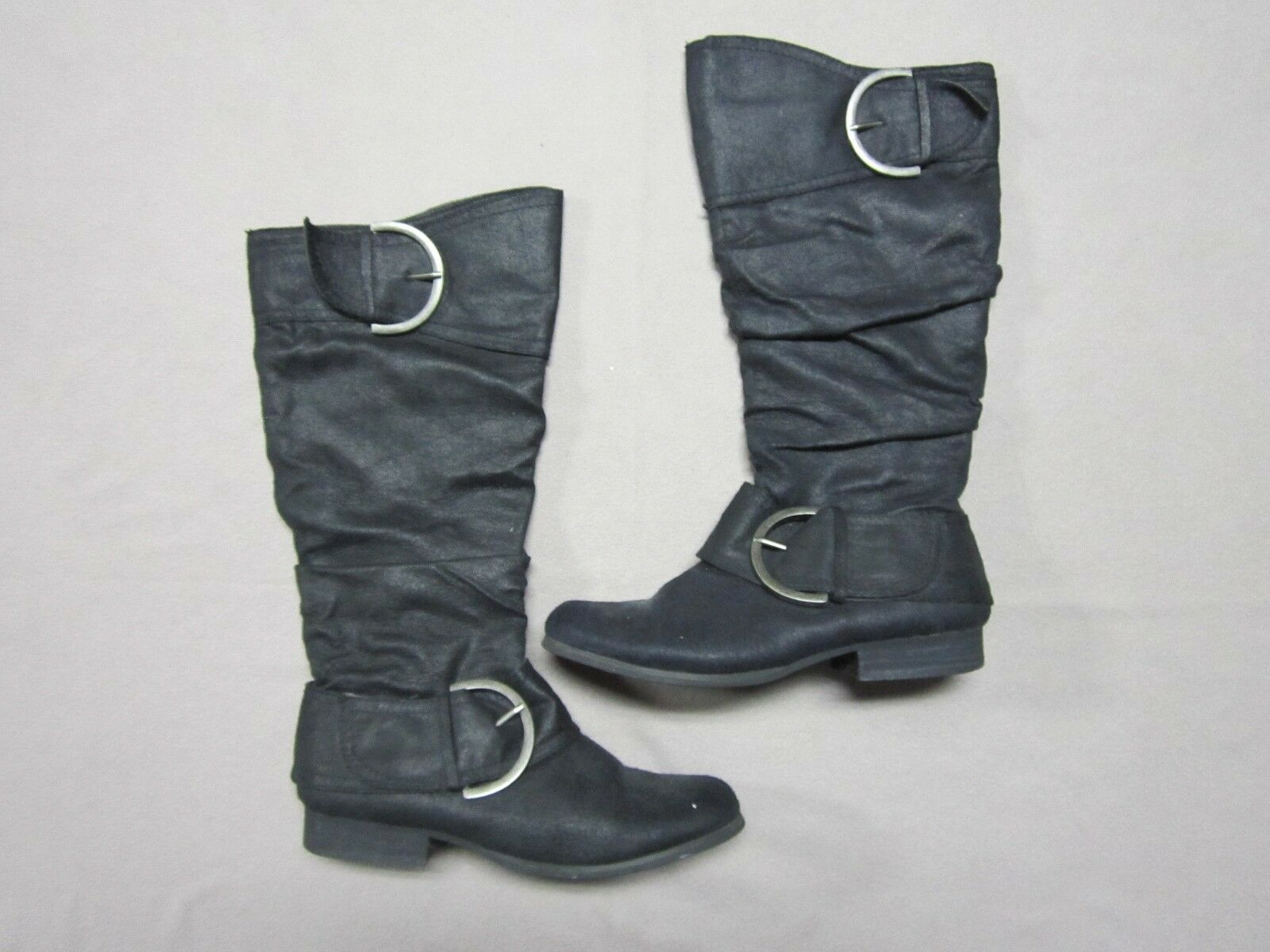 NAUGHTY MONKEY SIZE WOMENS BLACK HIGH ZIP UP BOOTS SHOES SIZE MONKEY 7.5 GENTLY PREOWNED 3e7baa
