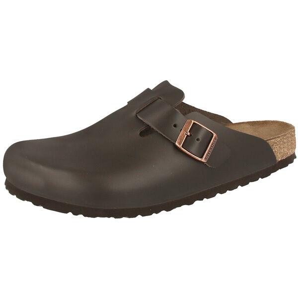 Birkenstock Boston Glattleder Clogs Schuhe dark brown 060101 Clog Weite normal