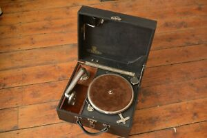 Antique Academy small portable Gramophone player  RESTORED
