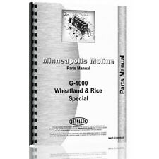 Wheatland Amp Rice Parts Manual For Minneapolis Moline G1000 132 Pages