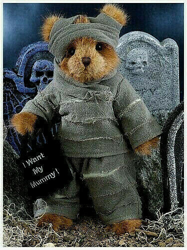 "10/"" MORTY MUMMY BEARINGTON BEARS*New 2018*NWT*Plush*Stuffed*HALLOWEEN*181317"