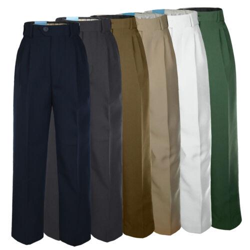 Boy Toddler Kid School Uniform Formal Wedding Suit Pants Navy Blue sz 2T-7 8-20