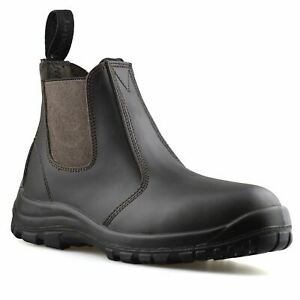 Mens-Leather-Wide-Fit-Chelsea-Ankle-Boots-Casual-Smart-Dealer-Work-Shoes-Size