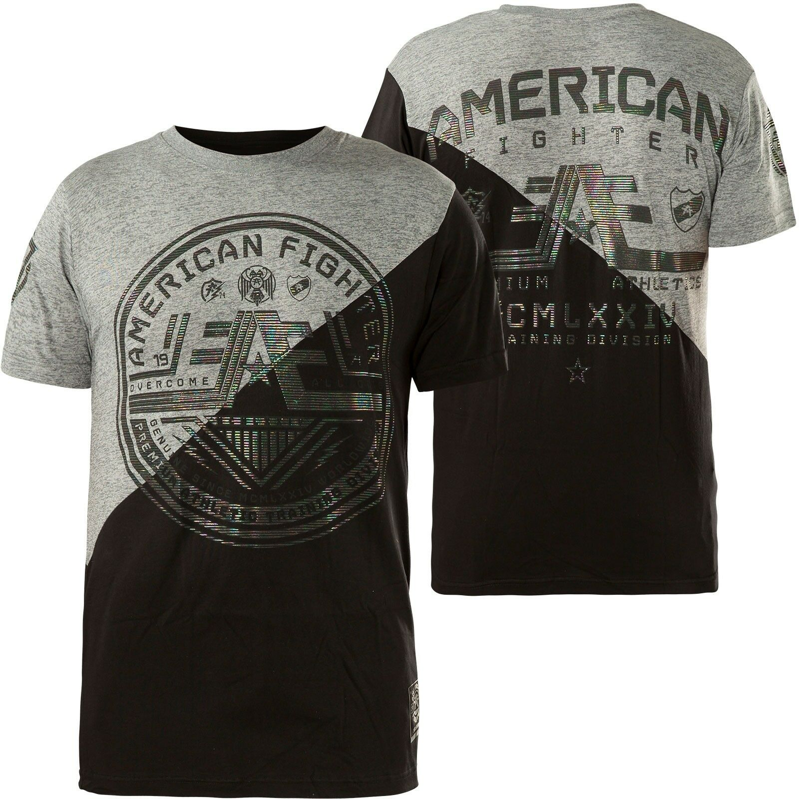 AMERICAN FIGHTER Affliction T-Shirt Wyoming Grau/Schwarz T-Shirts