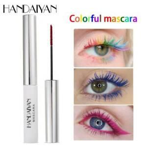 HANDAIYAN-Colorida-Impermeable-Maquillaje-Mascara-de-pestanas-Curling-duradero-natural