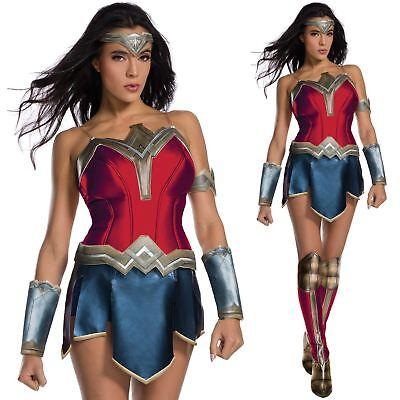 Official Wonder Woman Costume Ladies Justice League Secret Wishes Fancy Dress