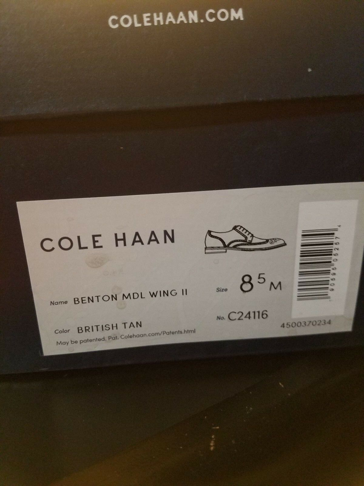 COLE HAAN BENTON WINGTIP OXFORD II (C24116) BNIB RARE RARE RARE HIGH QUALITY SZ  8.5M c45611