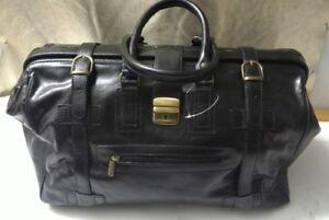 Italy Borsone valigia in made viaggio nera uomo in a mano pelle da qWPnxqXwgF