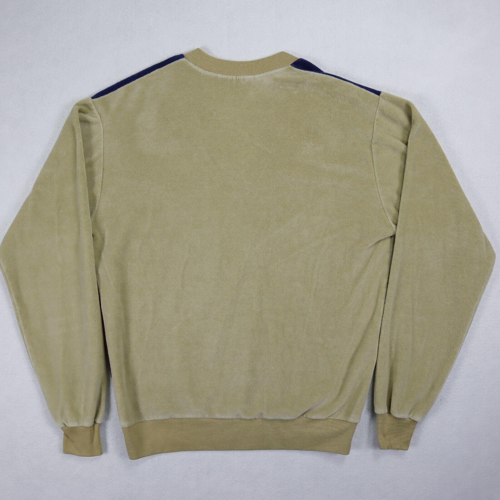 Sears Sportswear mens velour sweater medium brown… - image 10