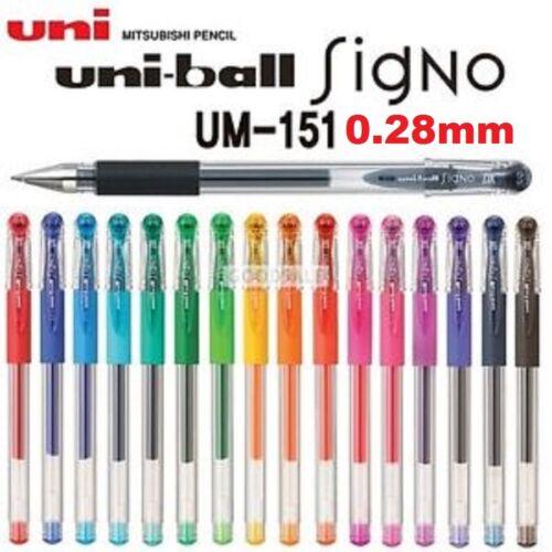 Uni-Ball Signo DX plumas 0.28mm elige tu colores Uniball Japón UM-151 Mitsubishi