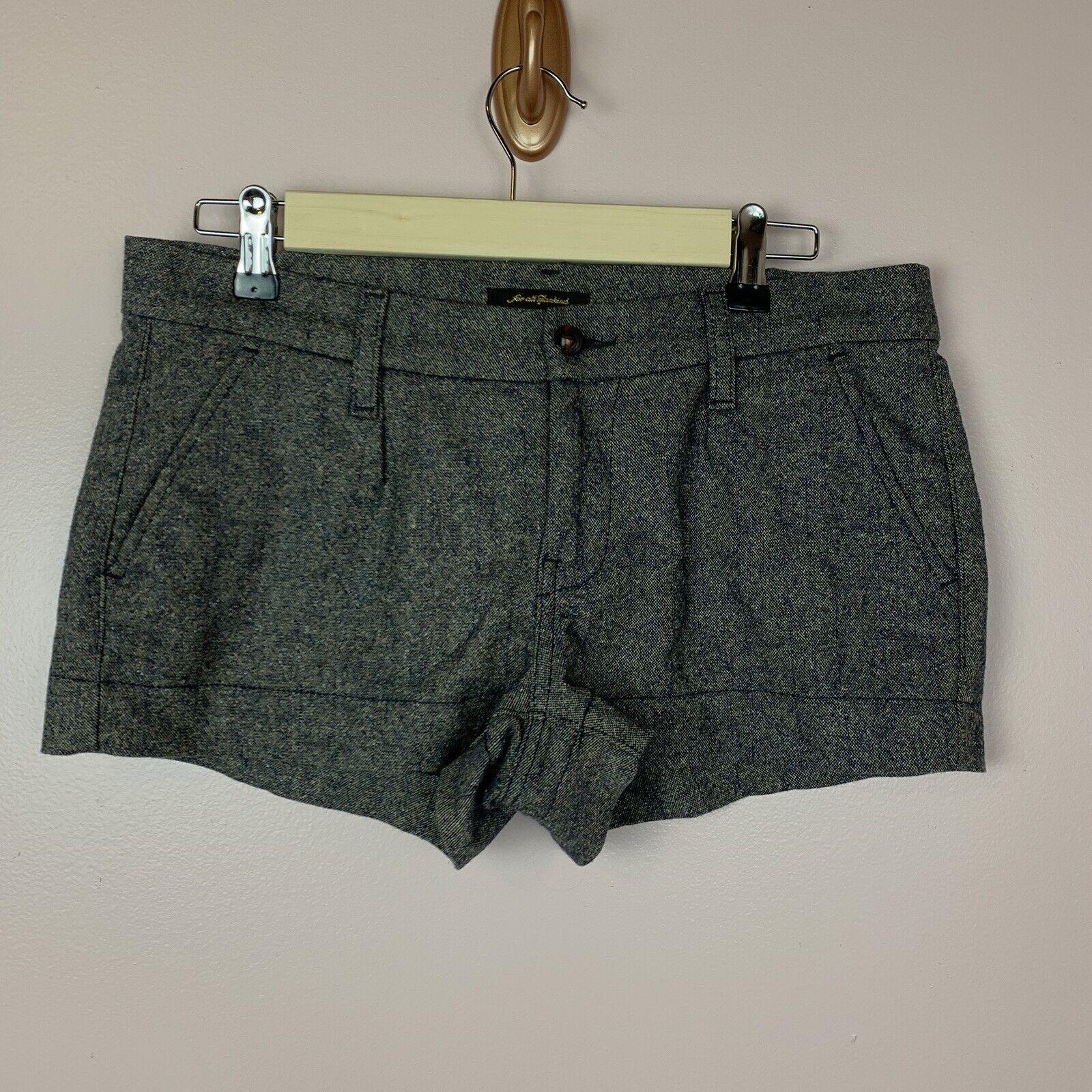 7FAM Women's Tweed Tailored Shorts Virgin Wool Bl… - image 1