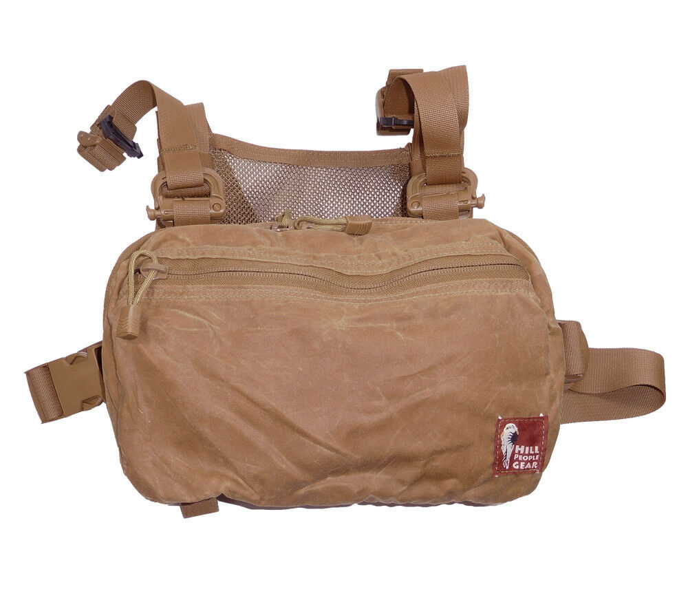 Hill People Gear Waxed Canvas Kit Bag Tan Weather Resistant Buschraft edc ccw