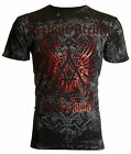 Archaic AFFLICTION Mens T-Shirt ACHILLES Cross Wings Tattoo Biker MMA UFC $40