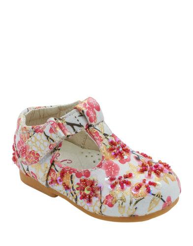 Bébé Filles Imprimé Fleuri Chaussures soft Marche Tout-petit fête de mariage nouvelle taille