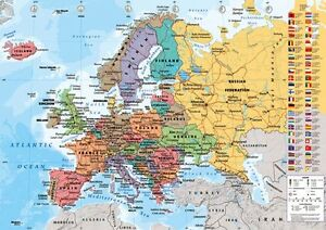 Official european map maxi poster 915 x 61cm world map art image is loading official european map maxi poster 91 5 x gumiabroncs Images