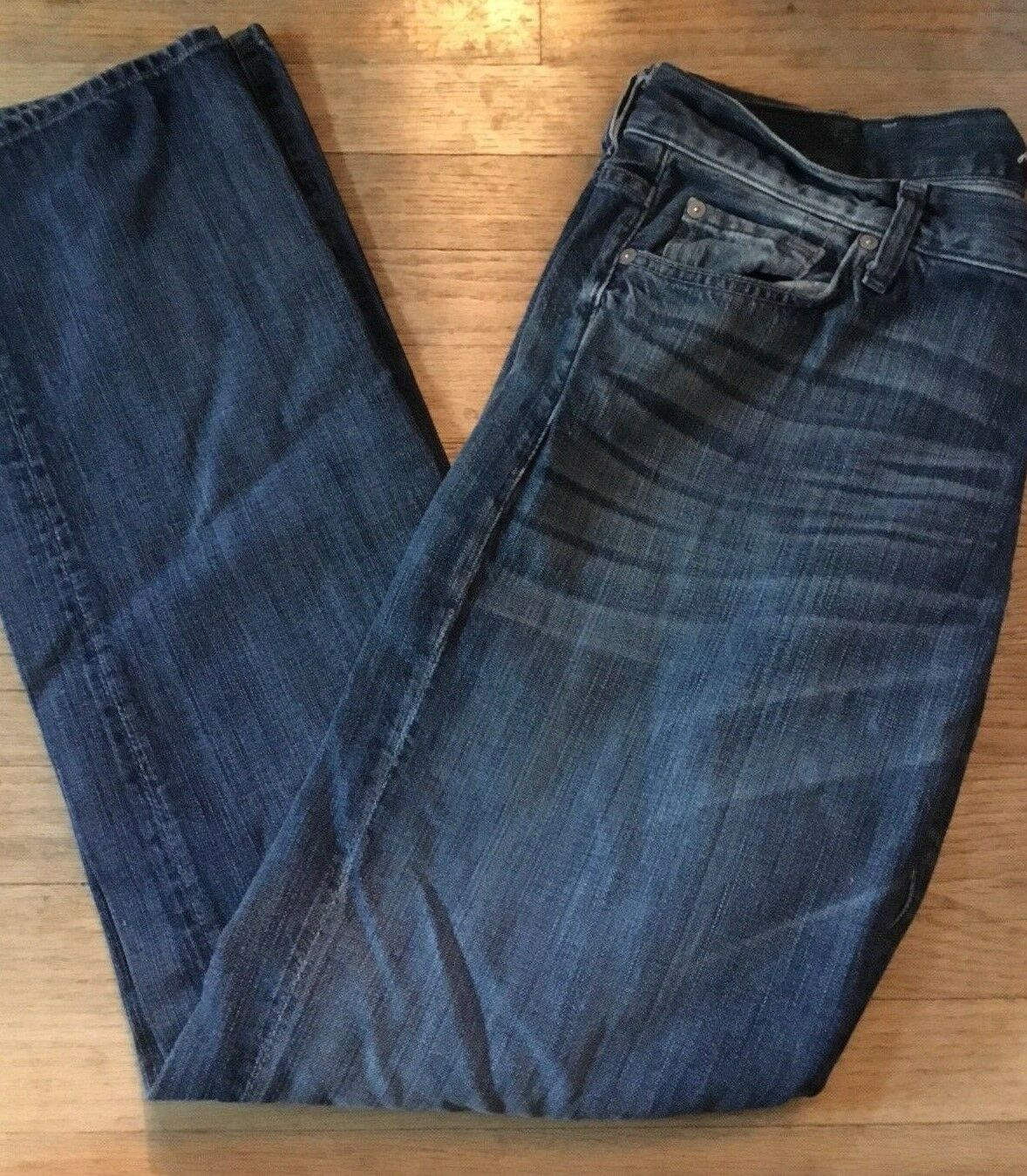 7 FOR ALL MANKIND Men's Size 38 Distressed Whiskered Standard bluee Jeans