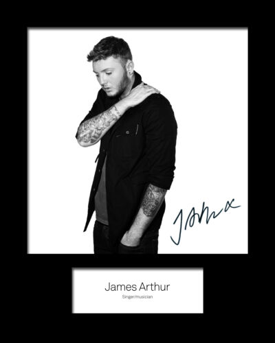 JAMES ARTHUR Signed Photo Print 10x8 Mounted Photo Print FREE DELIVERY