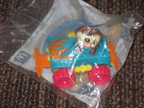 1992 Looney Tunes Quack Up Cars McDonalds Happy Meal Toy Taz Tornado Tracker