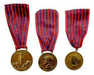 tris-medaglie-prima-guerra-mondiale-1915-18-libia-bronzo-nemico-auspice-juventus