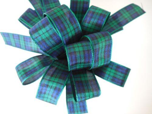 17 Tartans 16mm Select Colour Width Length Berisfords Scottish Tartan Ribbon