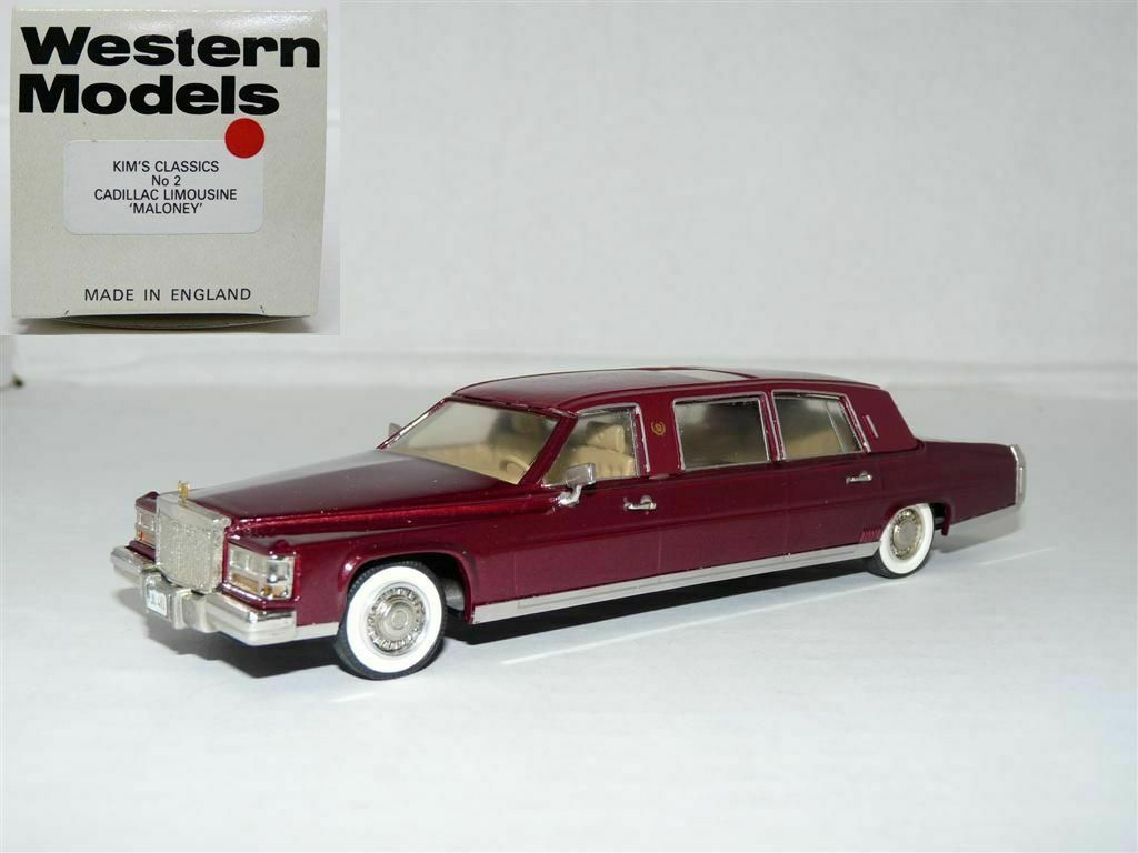 entrega rápida Western 1 43 Cadillac Fleetwood realzar realzar realzar limusina hecho a mano de metal blancoo modelo de coche  promocionales de incentivo