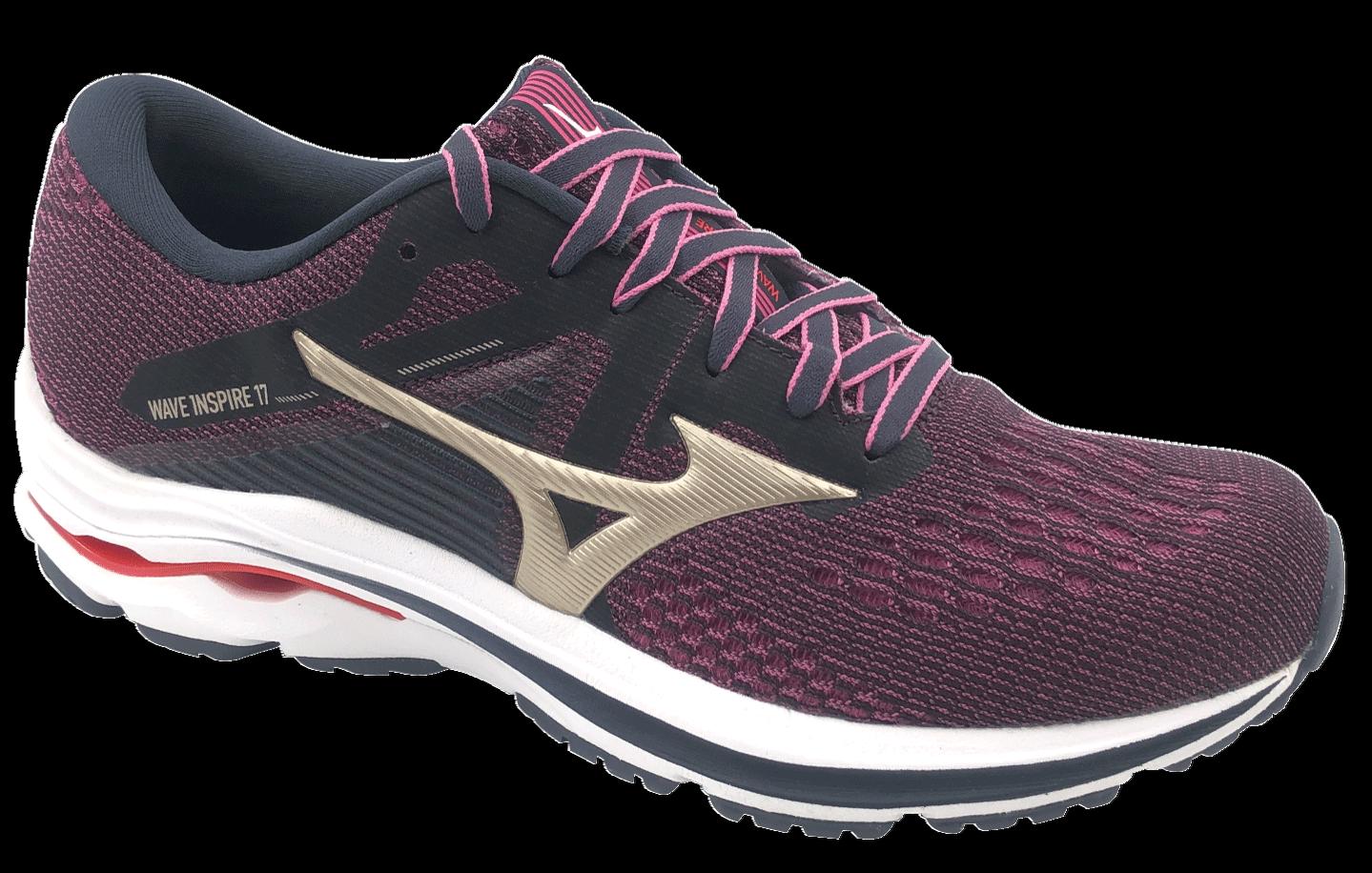 MIZUNO Chaussures de Course Wave Inspire 17 VT Sneaker En Violet Pour Femmes 39 26 cm