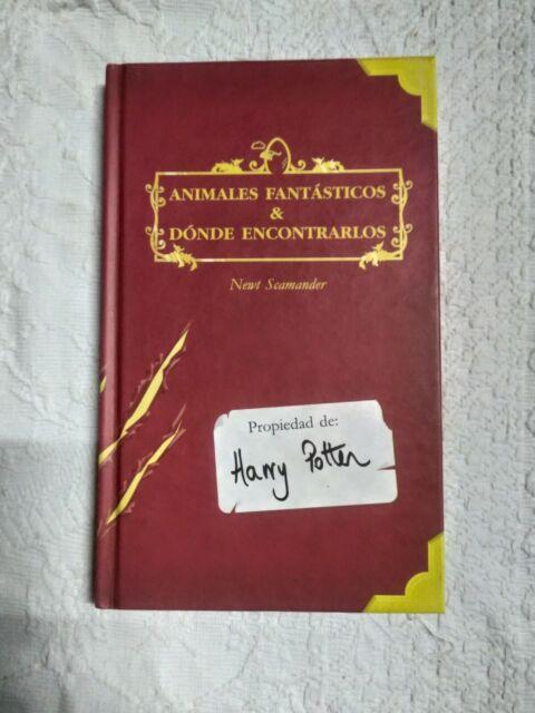 Libro Animales fantásticos y dónde encontrarlos, ed. descatalogada, Harry Potter