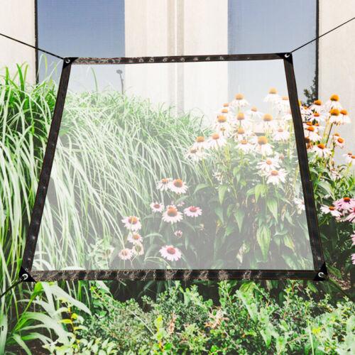 Transparente Plane Stoff 100 g//m² Gewächshaus Folie Dekoration Mit Ösen Terrasse