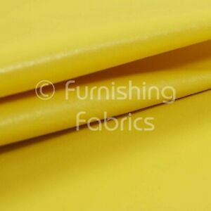 Soft Sheen Vinyl Yellow Faux Leather Upholstery Fabric Perfect For Furnishing Sold By The 1 Metre